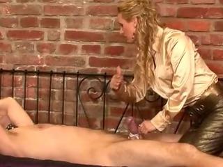 Porn Tube of Nasty Cbt Femdom Hottie Dominates