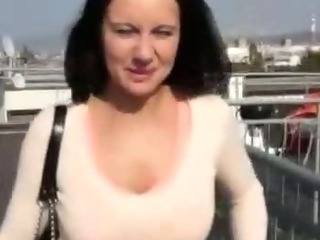 Porn Tube of Euro Slut Rooftop Fucking For This Cash