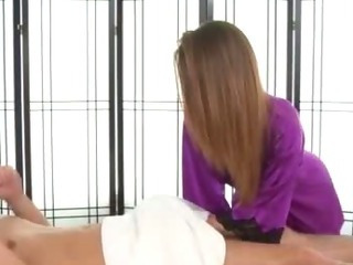 Porno Video of Massage Babe Greedily Sucks Lucky Clients Cock