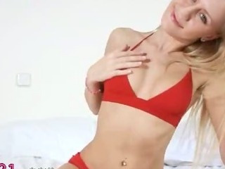 Porno Video of Blonde Plays With Sexy Toy On The Sofa