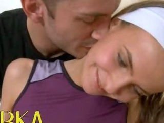 Porn Tube of Workout Massage With Russian Cheerleader