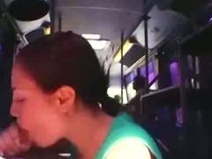 Public Cumshot on a Bus