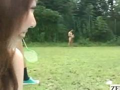 Subtitled National Nude Day Japan public park harem