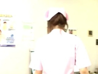 Porn Tube of Japanese Nurse Cock Jerking And Cumshot Action