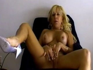 Porn Tube of Sexy Blonde Milf Gets Hot Solo Action On Webcam