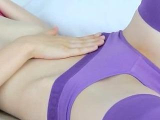 Porn Tube of Shocking Purple Lingerie