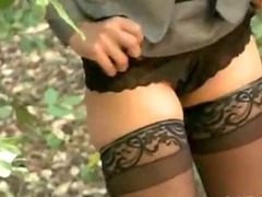 Business women grabbed and tied up in the woods to be fucked and dominated