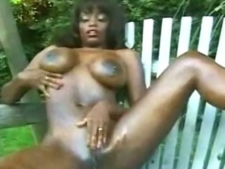 Porn Tube of Ghetto Hoe Afro Black Nasty Slut Masturbating With Toy