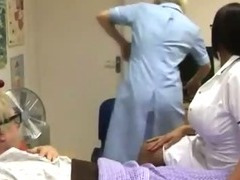 Cfnm fetish nurses jerk off patient
