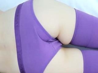 Porn Tube of Gentle Purple Lingerie