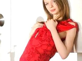 Porn Tube of Ultra Beautiful Skinny Chick Posing