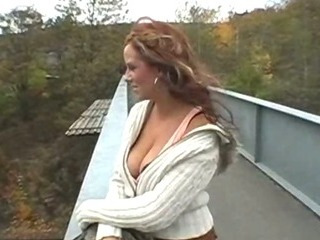 Porno Video of Big Juggs Blonde Amateur Flashes And Has Sex In Public