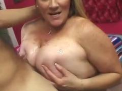 Blonde BBW new to porn