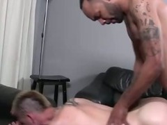 Interracial gay ass fucking twink