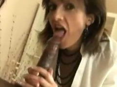 Mature femdoms suck black cock