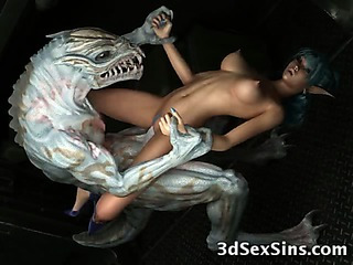 Porno Video of Creatures Gangbang 3d Babes!