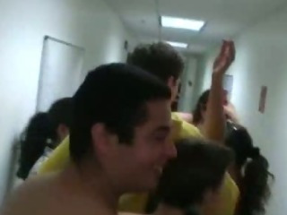 Porn Tube of College Horny Students Coitus In Hall