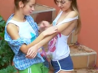 Sex Movie of Ivanas Slaves Of Lesbo Orgasm Outside