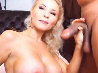 Porn Tube of Busty Wife Sucking A Huge Cock