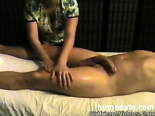 Porno Video of Slow Handjob, Balls Massage