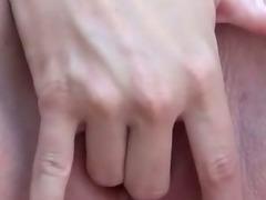 Preggo amateur slut pussy toying