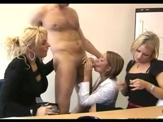 Porn Tube of Cfnm Fetish Hotties Give Handjob