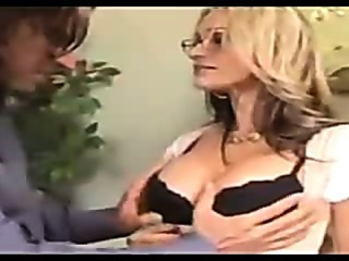Porn Tube of Secretary In Stockings Fucks At The Office