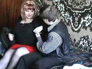 Porn Tube of Russian Mature Redhead Fucking With A Boy