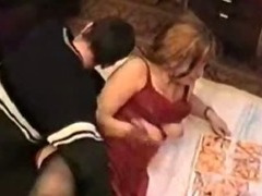 Russian mature mom Angela fucking with her boy