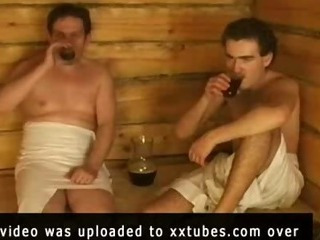 Porn Tube of Steamy Russian Sauna Sex
