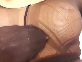 Porno Video of Slutty Blonde Distorted Nylon Mask Face
