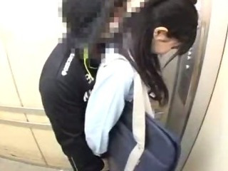 Porn Tube of Schoolgirls Groped In A School Elevator