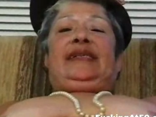 Porn Tube of Horny Granny Masturbate Till Cum And Get Hardcore Fucked By Badass