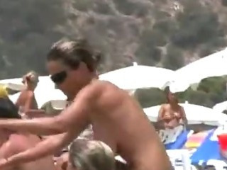 Porn Tube of Huge Tits Spanish Beach