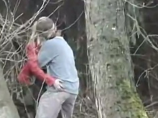 Porn Tube of Sweet Blonde Fucked In The Forest