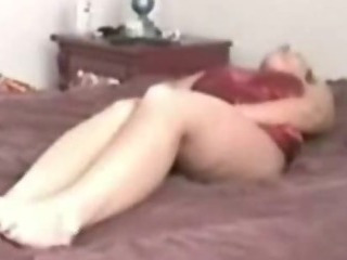 Porn Tube of Hidden Cam My Blonde Mom Cums On Her Bed