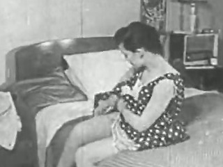 Porn Tube of Vintage Porn 1950s - Shaved Pussy, Voyeur Fuck