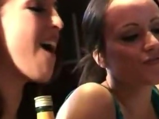 Porn Tube of Horny Cfnm Babe Sucks And Tug Barmen And Cant Get Enough