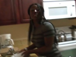 Porn Tube of Black Ghetto Girl Fucked Hard By A Big Black Cock