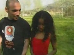 Black Whore gets Double Penetrated - Rough Sex