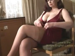 Porno Video of Big Tits Mature Panty Play And Striptease