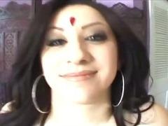 Indian Desi with Big Tits Sucks and Fucks Huge Cock