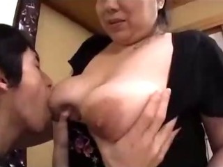 Porn Tube of Busty Fat Milf Getting Her Nipples Sucked Hairy Pussy Licked And Fucked By Young Guy On The Mattress