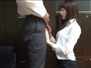 Porno Video of Office Lady Giving Blowjob Getting Her Ass Rubbed With Cock Cum To Skirt On The Floor In The Office