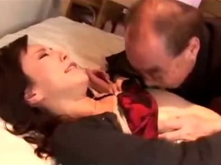Sex Movie of Milf Getting Her Hairy Pussy Licked Fingered By Old Man Giving Blowjob On The Bed In The Bedroom