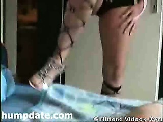 Porn Tube of Lingerie Bj & Cum Eating