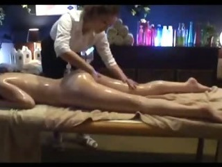 Porno Video of Asian Girl Massaged With Oil Getting Her Hairy Pussy Fingered On The Massage Bed