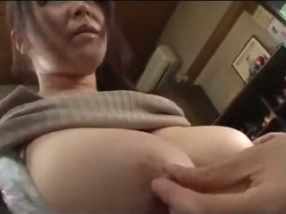 Porno Video of Fat Busty Milf Getting Her Tits Rubbed Hairy Pussy Licked By Young Guy On The Floor In The Room