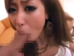 Japanese Lady Gets Cum On Her Tight Leather Pants
