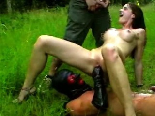 Porn Tube of Fisting And Pissing On My Girlfriend Outdoors